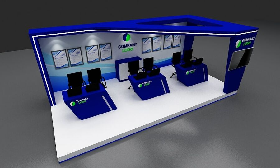 Booth exhibition royalty-free 3d model - Preview no. 19