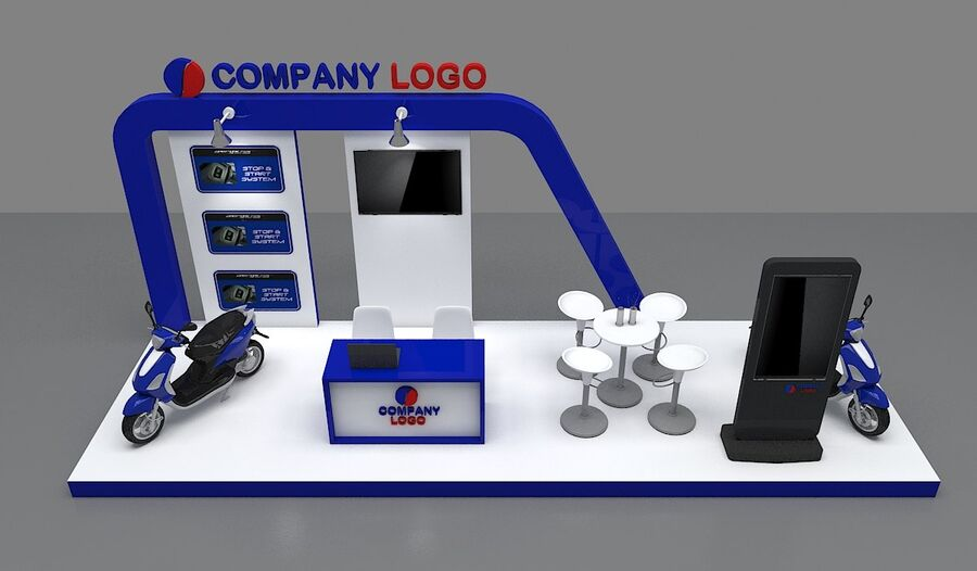 Booth exhibition royalty-free 3d model - Preview no. 14