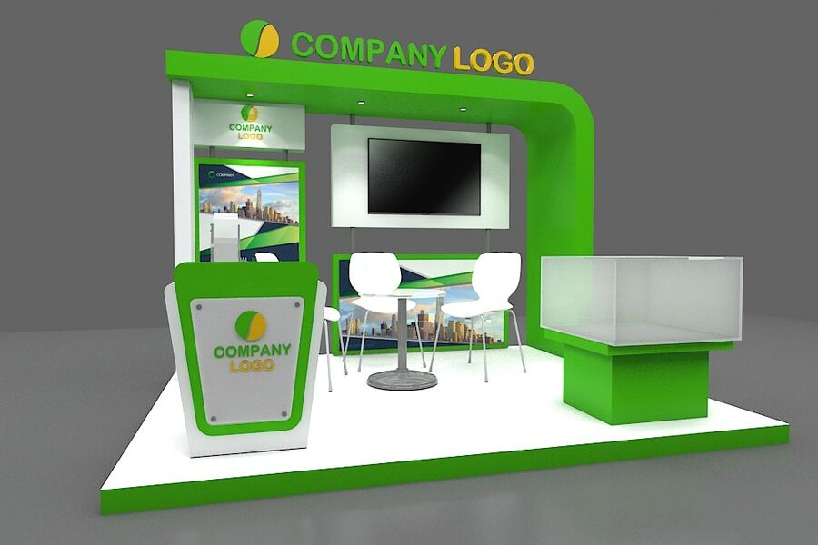 Booth exhibition royalty-free 3d model - Preview no. 2