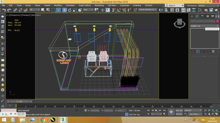 Booth exhibition royalty-free 3d model - Preview no. 6