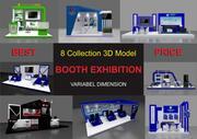 Stand tentoonstelling 3d model
