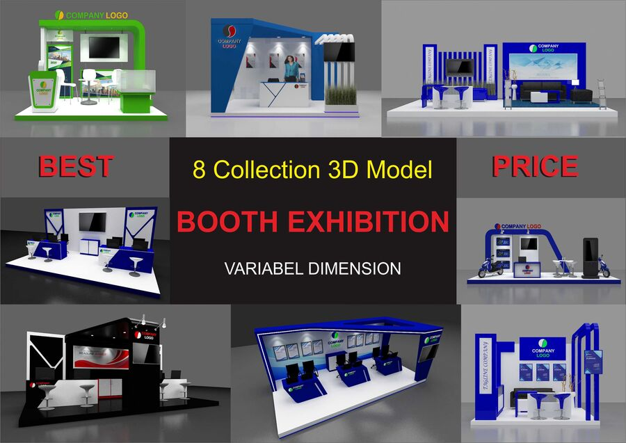 Booth exhibition royalty-free 3d model - Preview no. 1