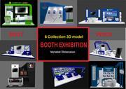 Exposição de estande 3d model