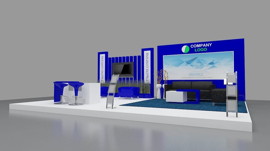 Booth exhibition royalty-free 3d model - Preview no. 8