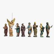 Statues d'horloge astronomique 3d model