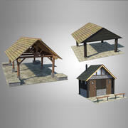 Pakiet akcesoriów do parku 3d model