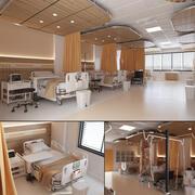 Innenraum der Krankenstation 3d model