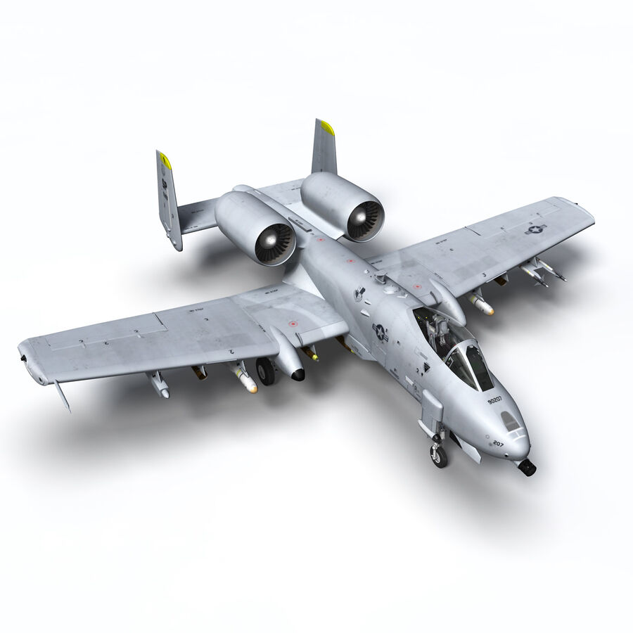 A10 C Warthog Extreme royalty-free 3d model - Preview no. 19