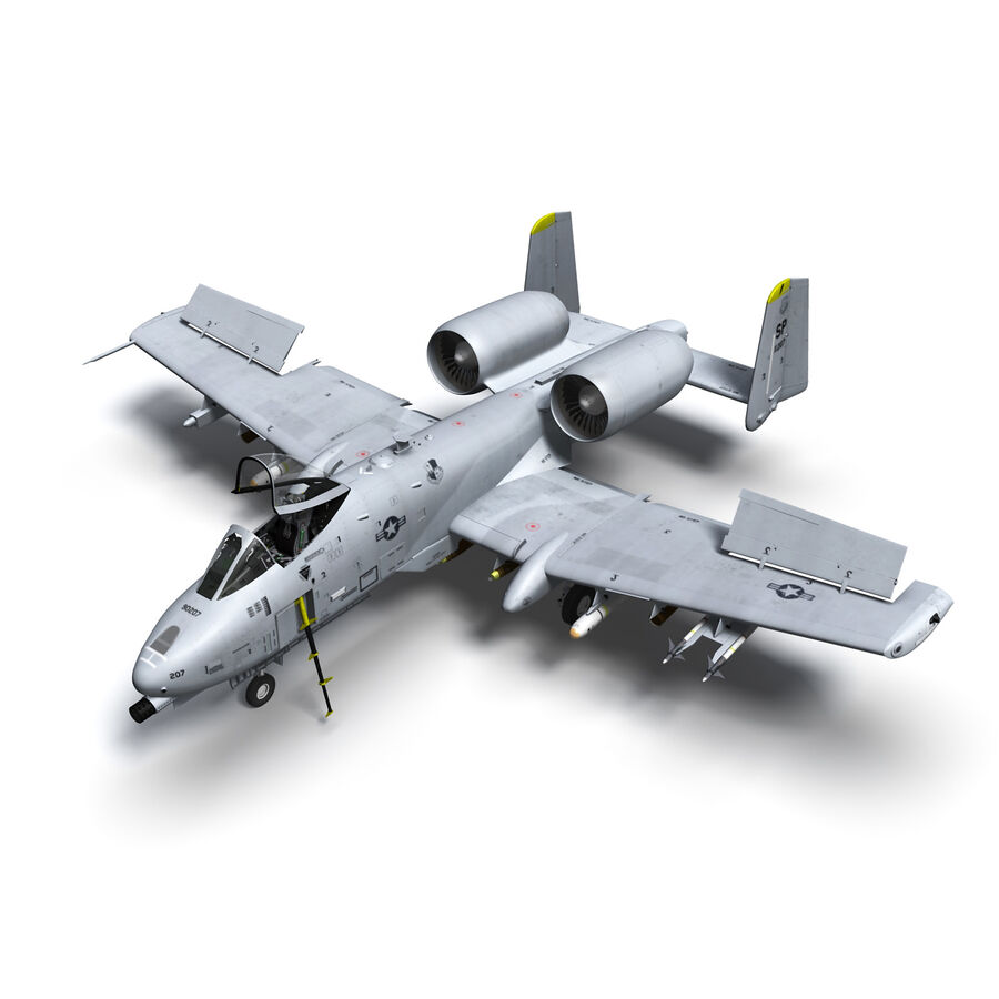 A10 C Warthog Extreme royalty-free 3d model - Preview no. 3