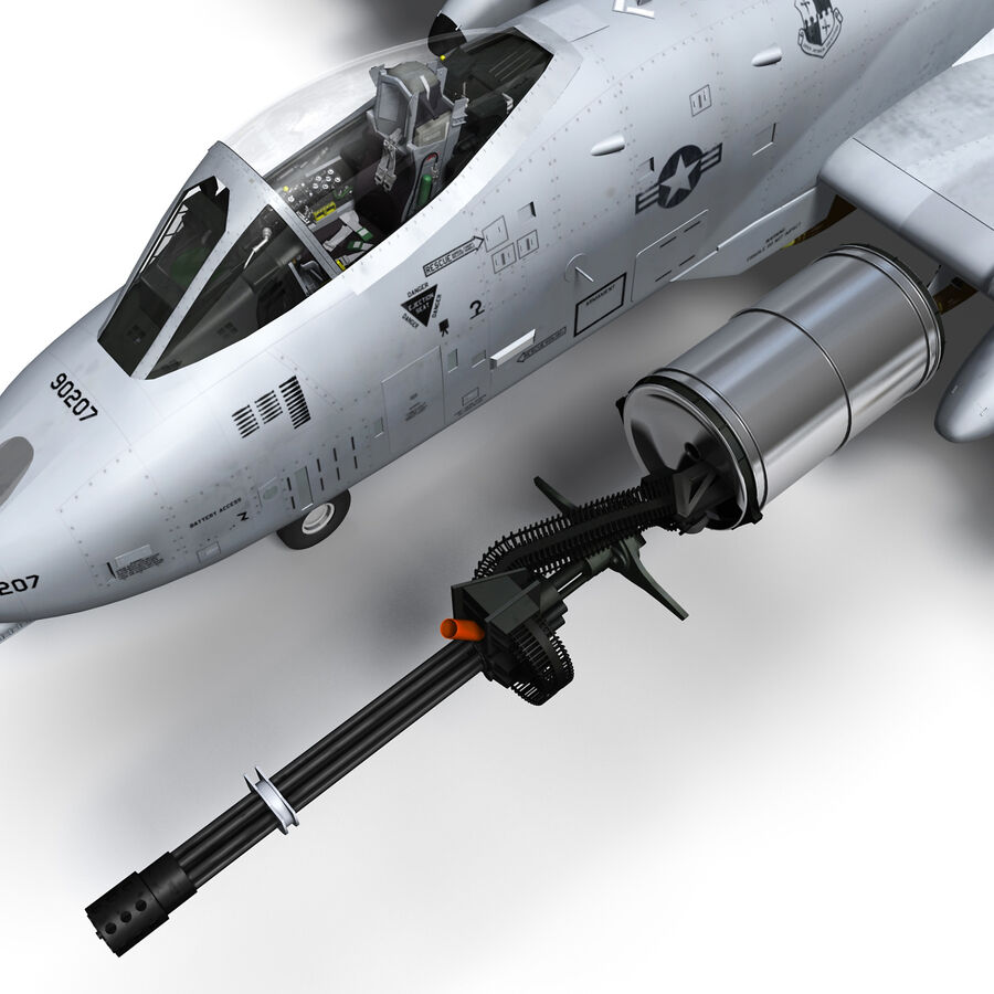 A10 C Warthog Extreme royalty-free 3d model - Preview no. 4