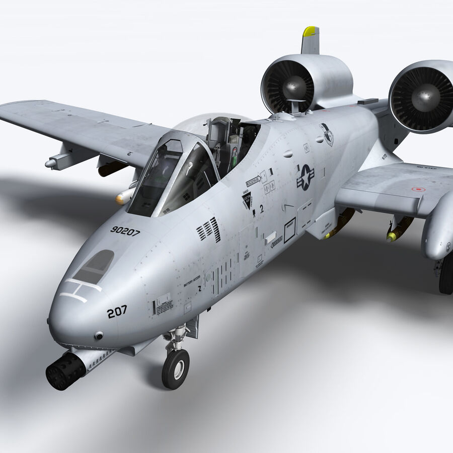 A10 C Warthog Extreme royalty-free 3d model - Preview no. 10