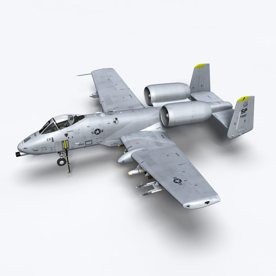 A10 C Warthog Extreme royalty-free 3d model - Preview no. 1