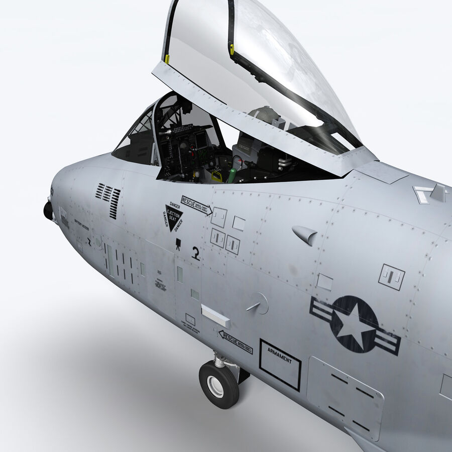 A10 C Warthog Extreme royalty-free 3d model - Preview no. 17