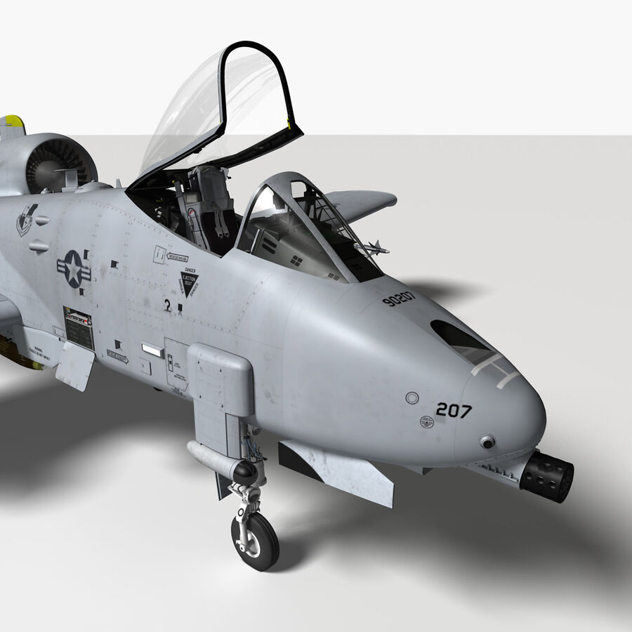 A10 C Warthog Extreme royalty-free 3d model - Preview no. 16