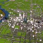 Philadelphia City 3D 3d model