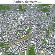Città di Aquisgrana in Germania 3d model