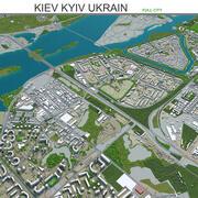 Kijów Kijów na Ukrainie 3d model