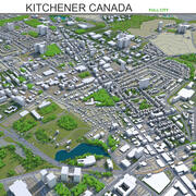 Kitchener City in Kanada 3d model
