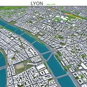 Lyon na França 3d model
