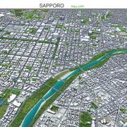Sapporo Hokkaido Japonia 3d model