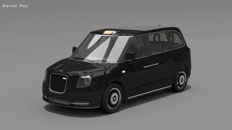 London Black Cab e Double Decker royalty-free 3d model - Preview no. 9