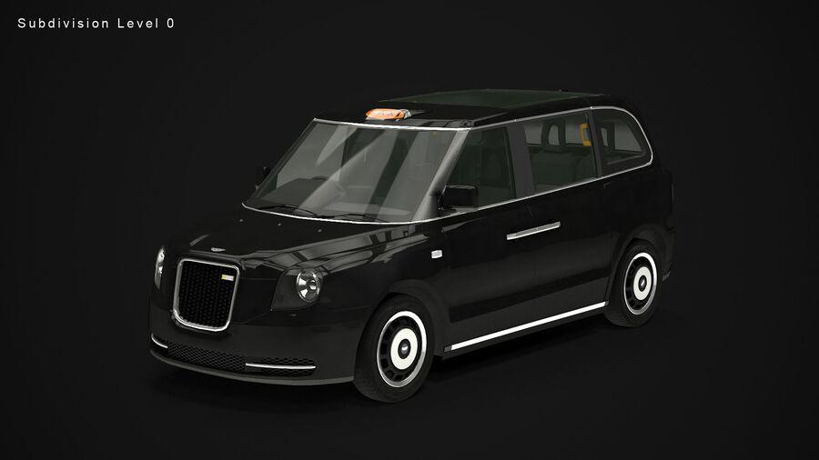 London Black Cab e Double Decker royalty-free 3d model - Preview no. 10