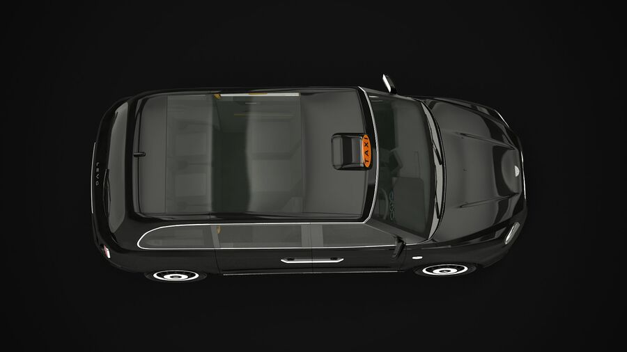 London Black Cab e Double Decker royalty-free 3d model - Preview no. 8