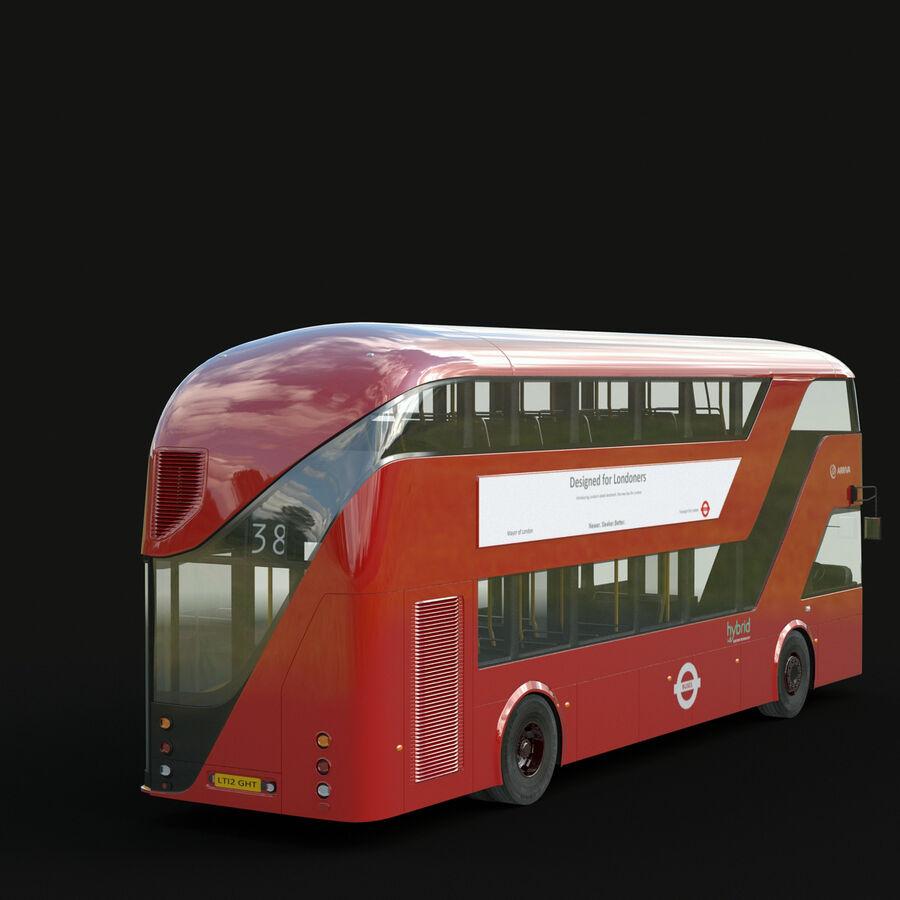 London Black Cab e Double Decker royalty-free 3d model - Preview no. 21