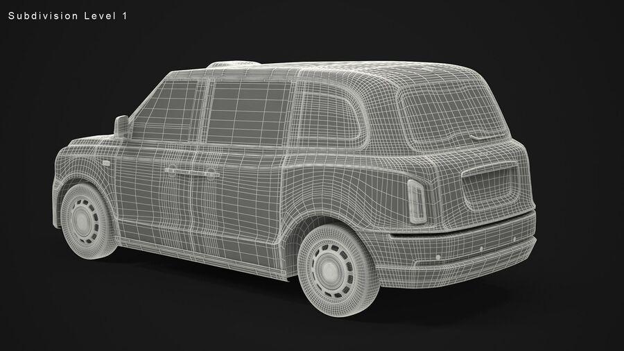 London Black Cab e Double Decker royalty-free 3d model - Preview no. 14