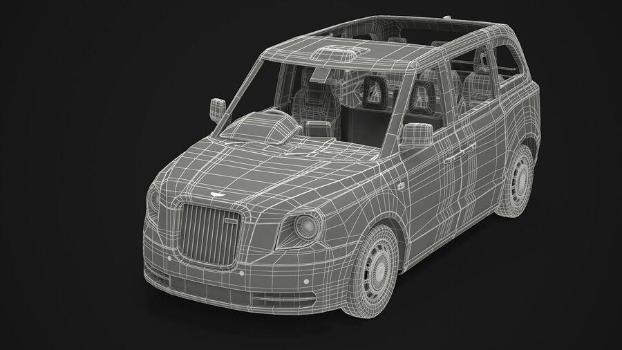 London Black Cab e Double Decker royalty-free 3d model - Preview no. 16