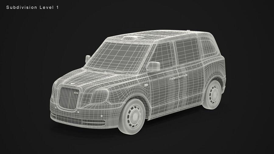 London Black Cab e Double Decker royalty-free 3d model - Preview no. 12