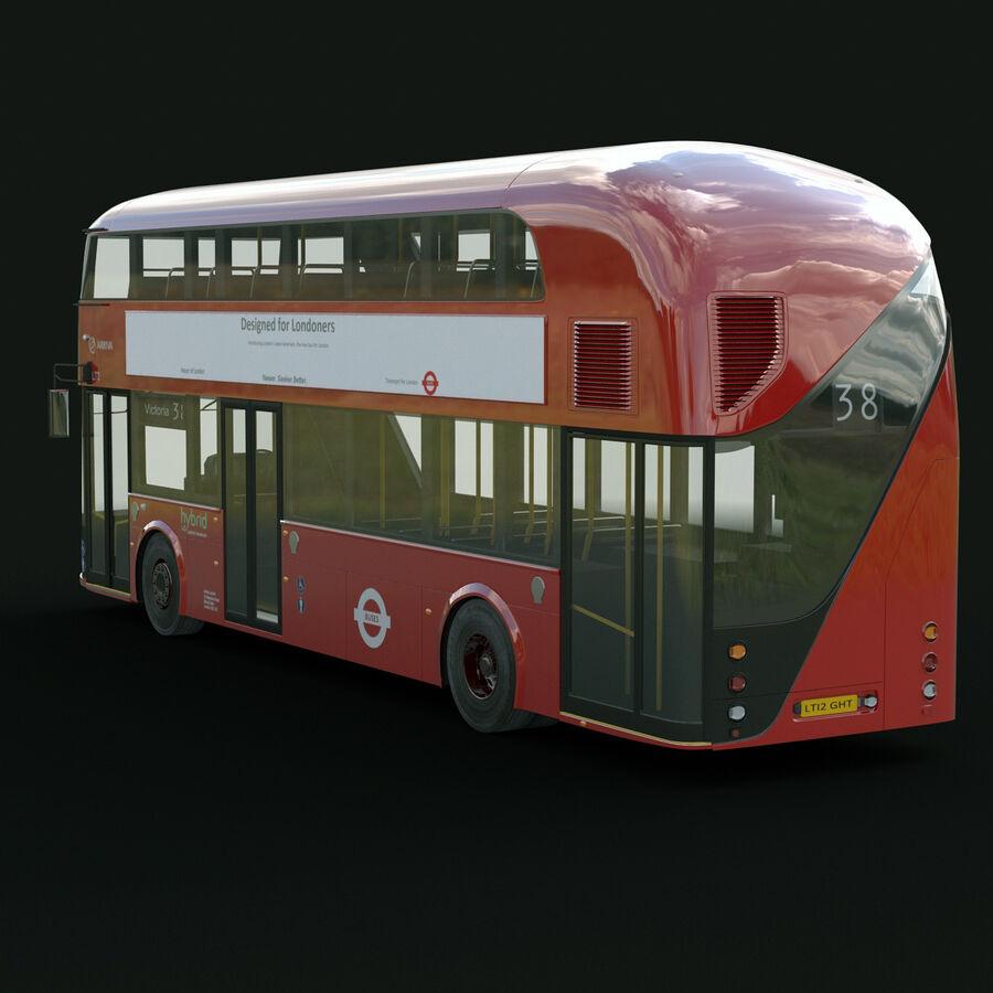 London Black Cab e Double Decker royalty-free 3d model - Preview no. 17
