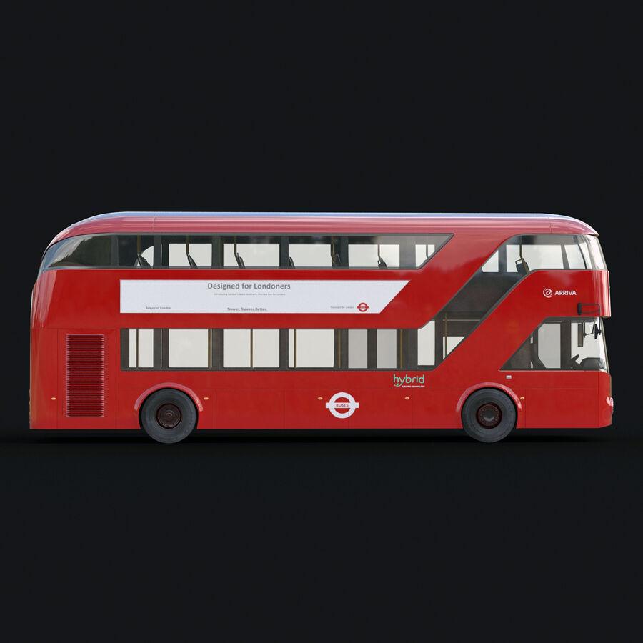 London Black Cab e Double Decker royalty-free 3d model - Preview no. 18