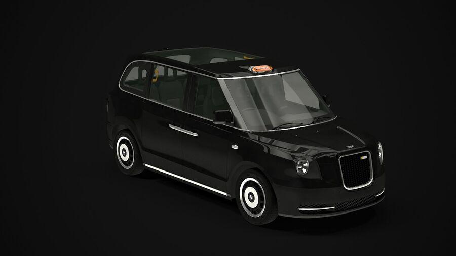 London Black Cab e Double Decker royalty-free 3d model - Preview no. 3
