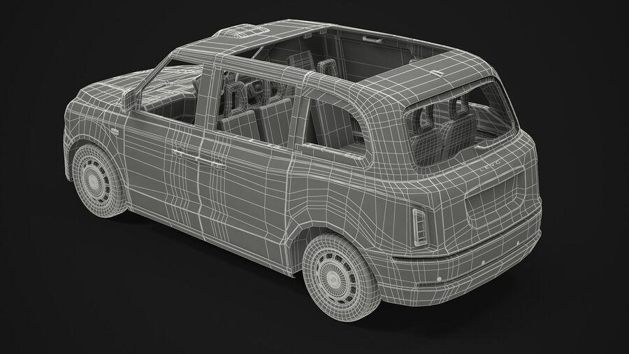 London Black Cab e Double Decker royalty-free 3d model - Preview no. 15