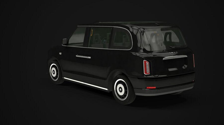 London Black Cab e Double Decker royalty-free 3d model - Preview no. 2