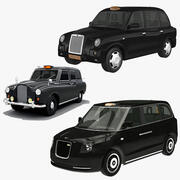London Taxi Cab Collection 3d model