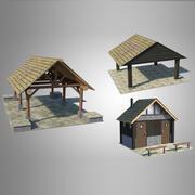Park Accessories Bundle 3d model