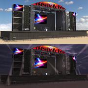 Konzertszene Tag und Nacht 3d model