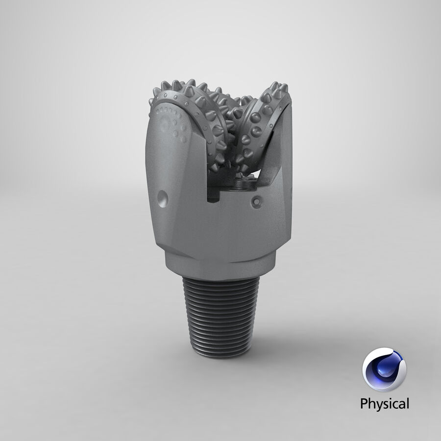 Mining Drill Bit royalty-free 3d model - Preview no. 19