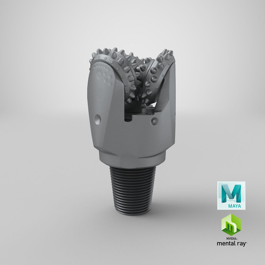 Mining Drill Bit royalty-free 3d model - Preview no. 27