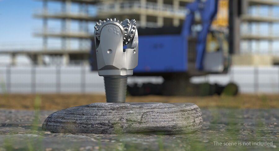 Mining Drill Bit royalty-free 3d model - Preview no. 3