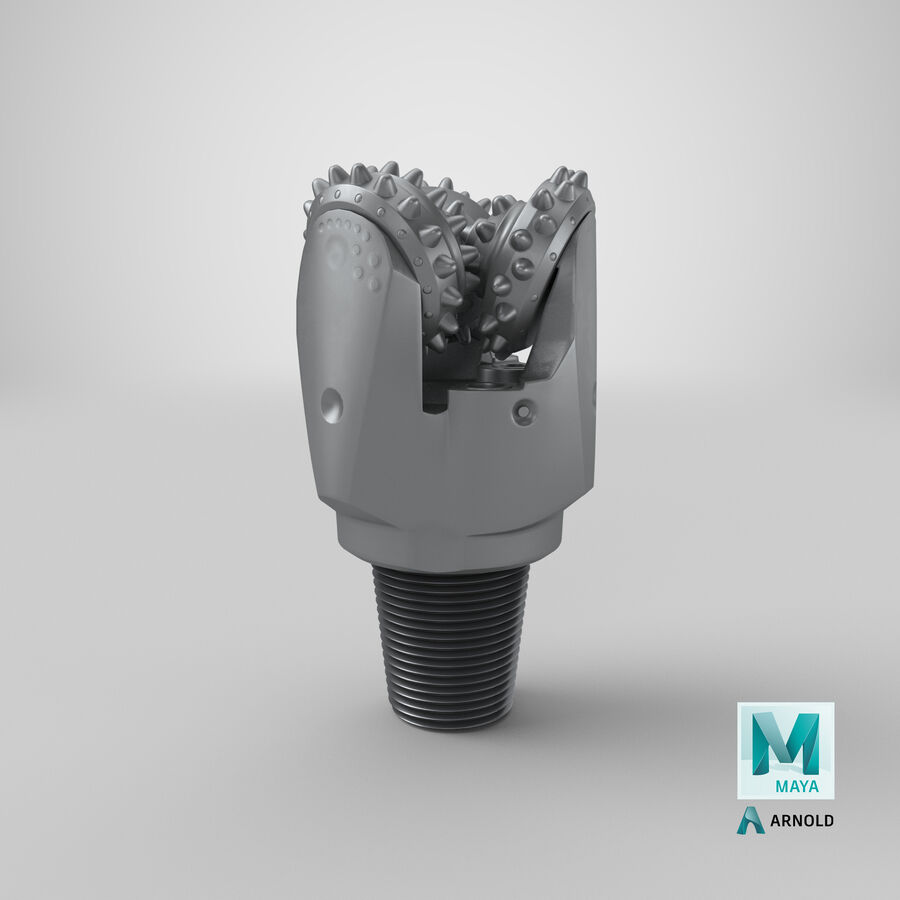 Mining Drill Bit royalty-free 3d model - Preview no. 26
