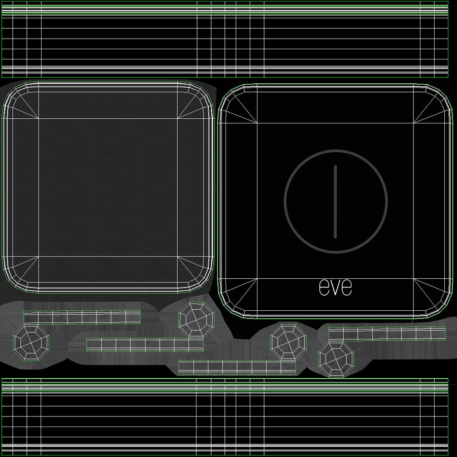 Eve Button Connected Home Remote royalty-free 3d model - Preview no. 12