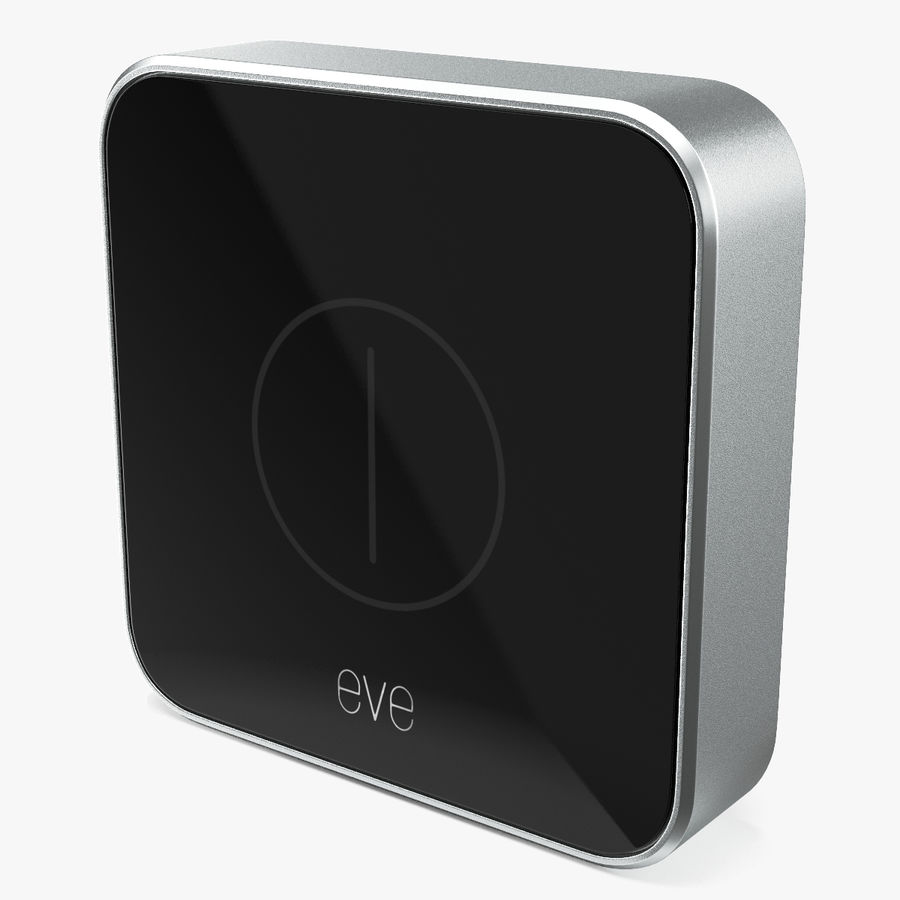 Eve Button Connected Home Remote royalty-free 3d model - Preview no. 1