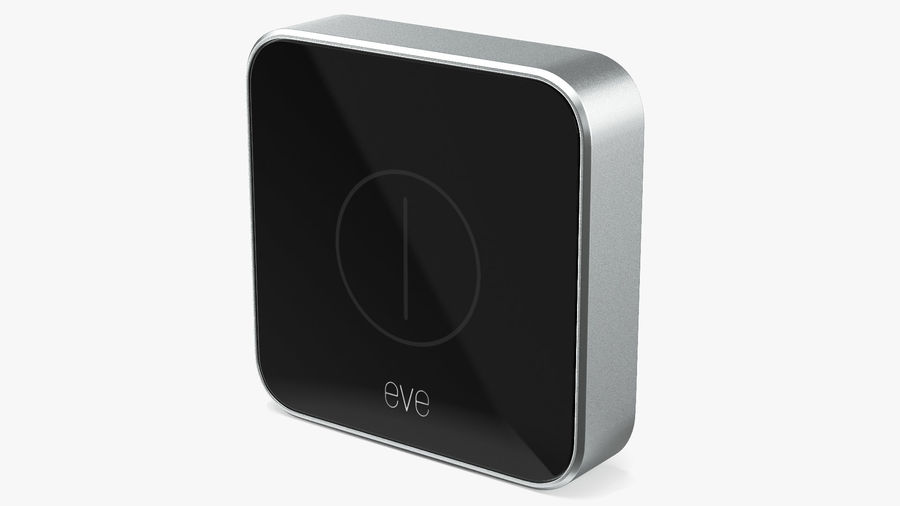 Eve Button Connected Home Remote royalty-free 3d model - Preview no. 2