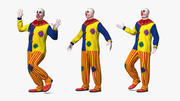 Bald Clown Rigged 3d model