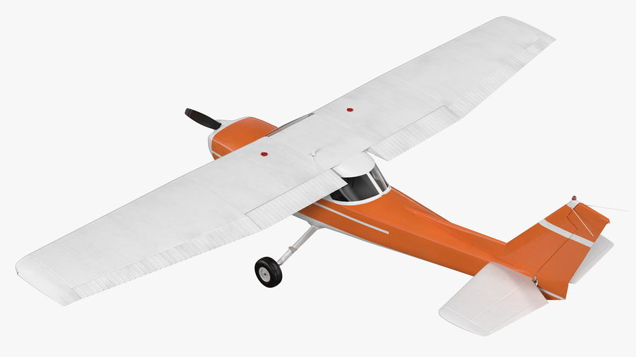 Single Engine Aircraft royalty-free 3d model - Preview no. 10