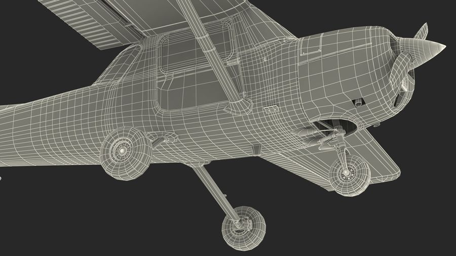 Single Engine Aircraft royalty-free 3d model - Preview no. 24