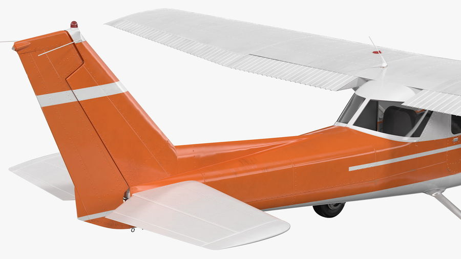 Single Engine Aircraft royalty-free 3d model - Preview no. 15
